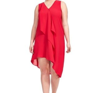 Adrianna Papell red high-low dress